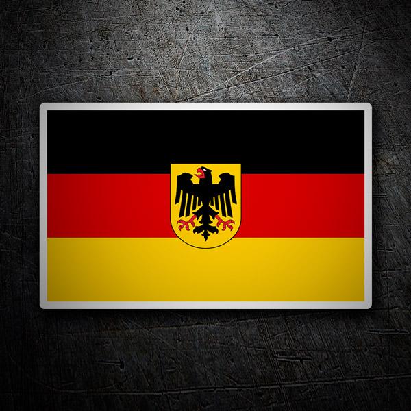 Autocollants: Drapeau de Allemagne