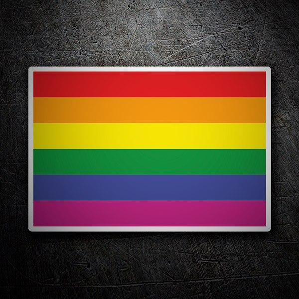 Autocollants: Rainbow flag