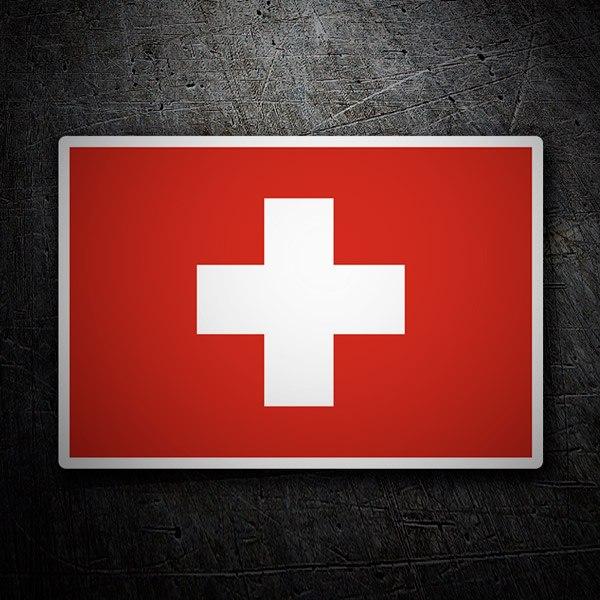 Autocollants: Drapeau de la Suisse