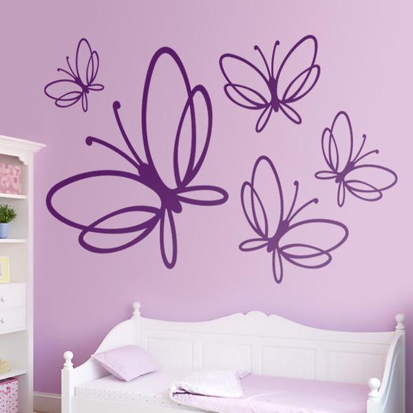 Stickers muraux: Papillons Noltea
