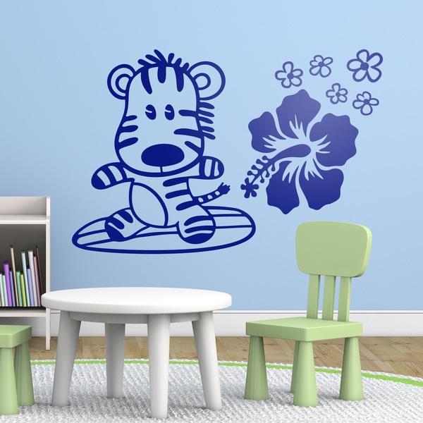 Stickers pour enfants: Surfeur zebra