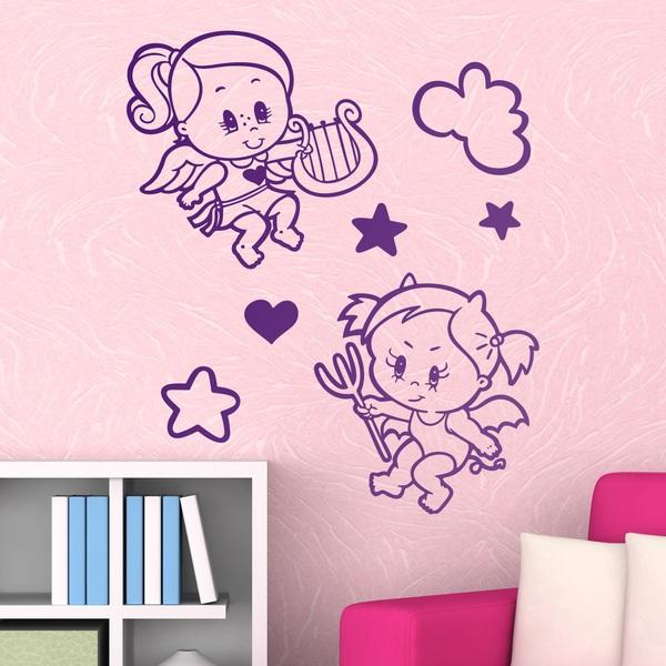 Stickers pour enfants: Ange et Démon