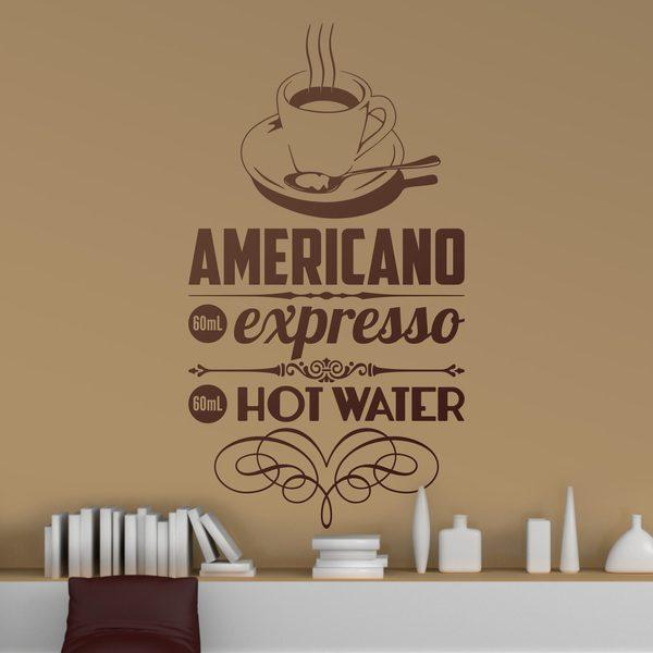 Stickers muraux: Café Américain