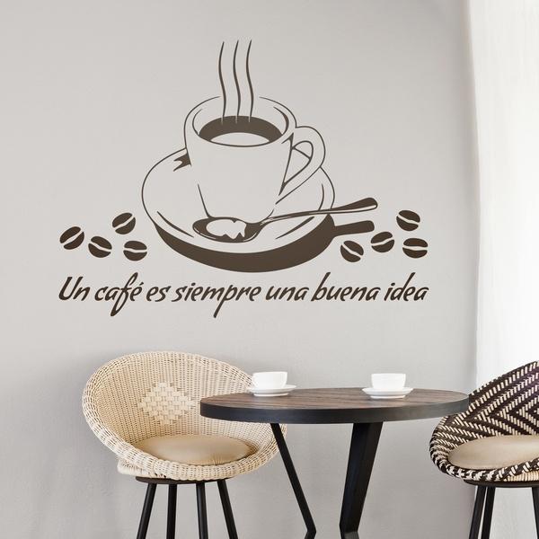 Stickers muraux: Un café es siempre una buena idea