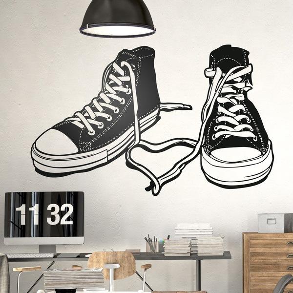 Stickers muraux: Des bottes sportives