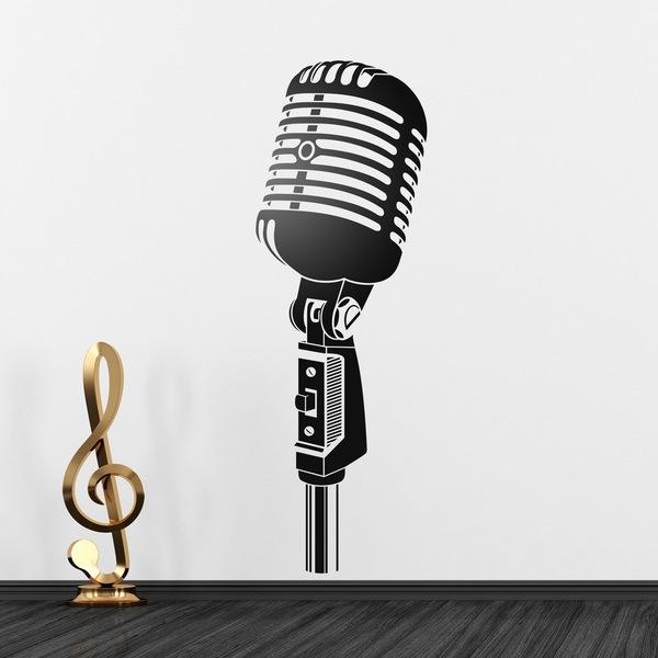 Stickers muraux: Microphone vintage