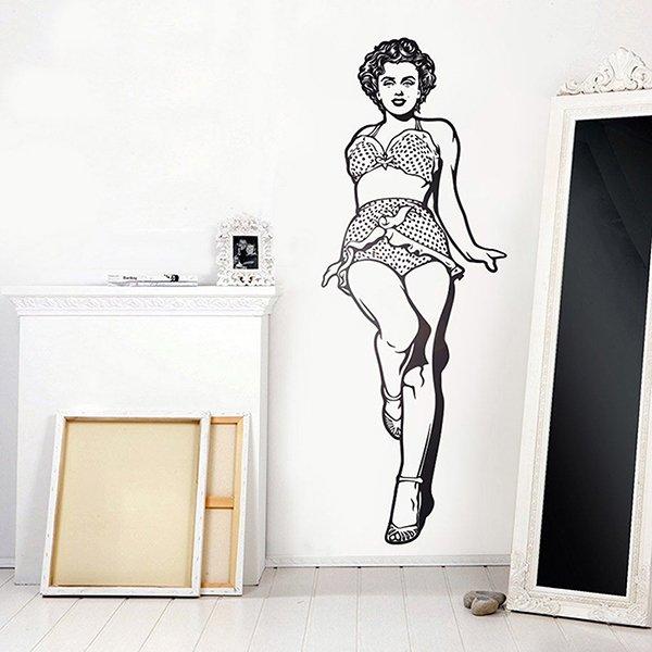 Stickers muraux: Marilyn Monroe en bikini