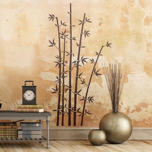 Stickers muraux: Des bâtons de bambou