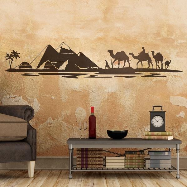 Stickers muraux: Pyramides dans le désert