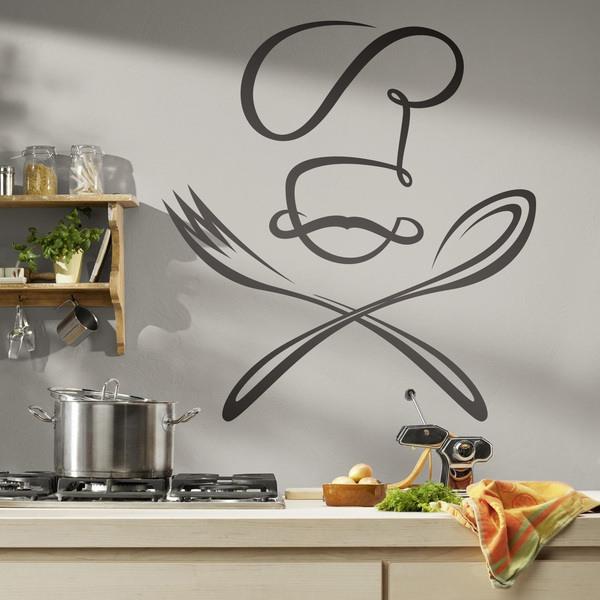Stickers muraux: Chef de cuillère et une fourchette