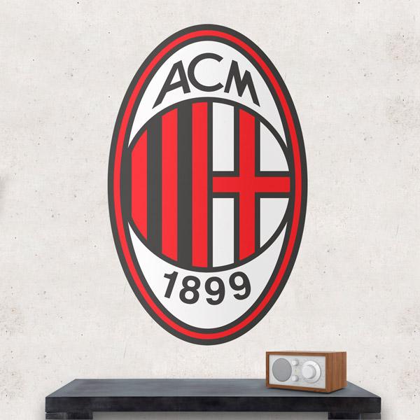 Stickers muraux: Écusson AC Milan couleur
