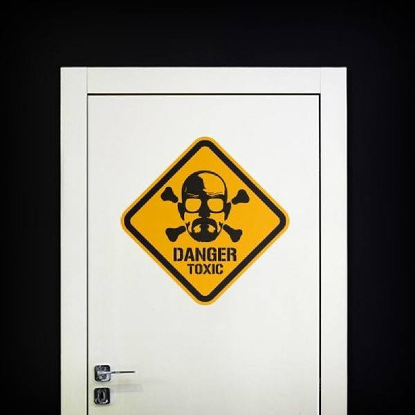 Stickers muraux: Heisenberg Danger Toxic Color