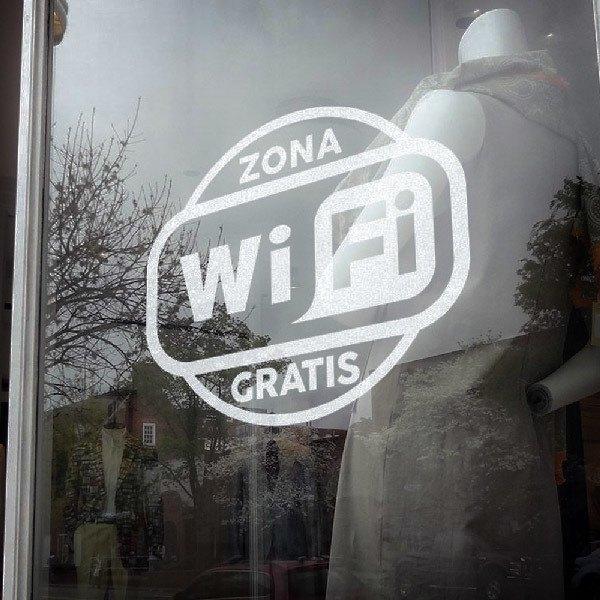 Stickers muraux: Zone Wifi gratuit