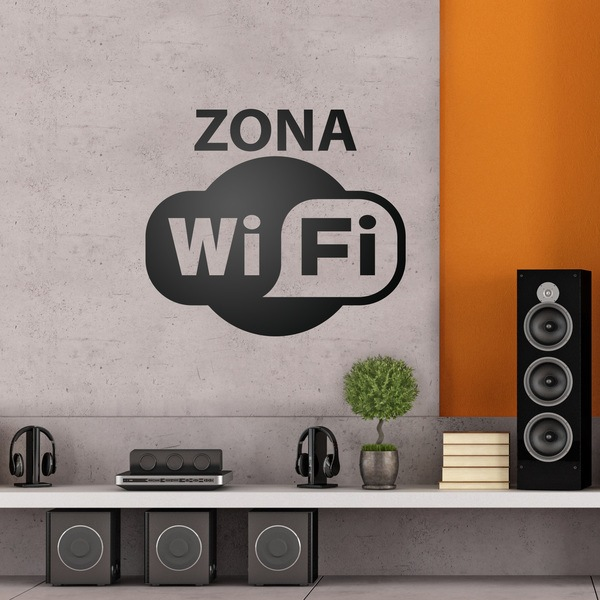 Stickers muraux: Zona Wifi