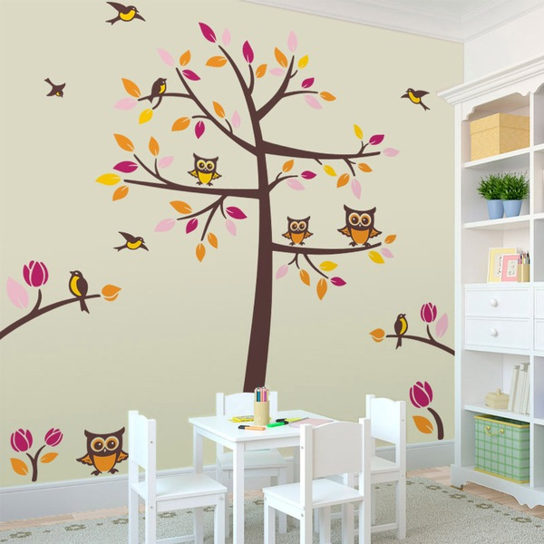 Stickers muraux d arbres webstickersmuraux for Vinilos infantiles con nombre baratos