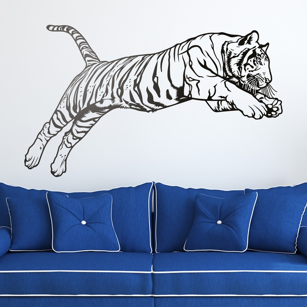Stickers muraux: Bengal Tiger saut