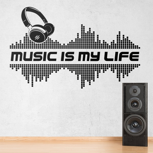Stickers muraux: Music is my life