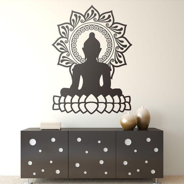 Stickers muraux: Bouddha et la fleur de lotus