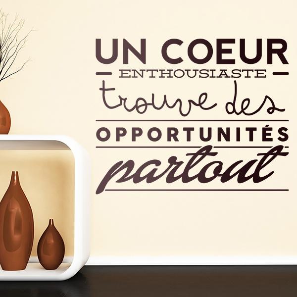 Stickers muraux: Un coeur enthousiaste trouve des opportunités...