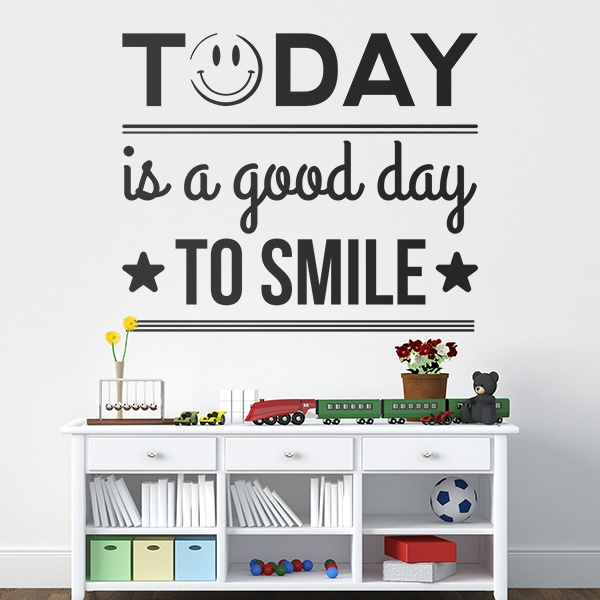 Stickers muraux: Today is a good day to smile