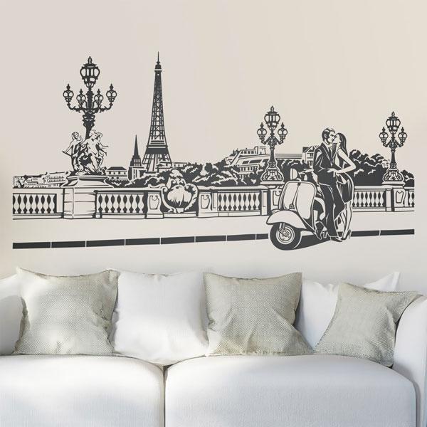 Stickers muraux: Scène romantique à Paris