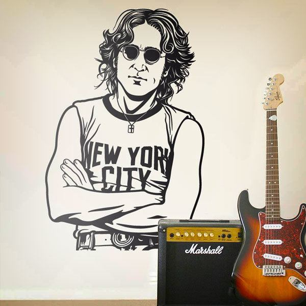 Stickers muraux: John Lennon