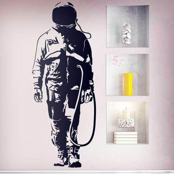 Stickers muraux: Banksy Graffiti astronaute