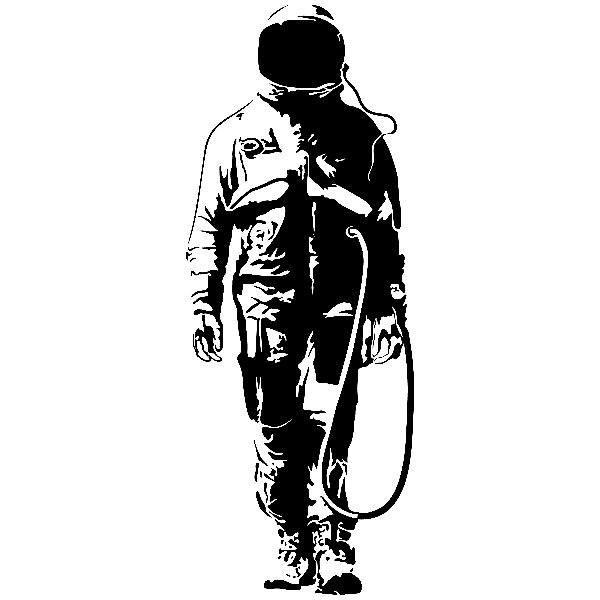 Stickers muraux: Banksy Graffiti astronaute Gangster Art