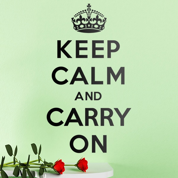 Stickers muraux: Keep Calm And Carry On