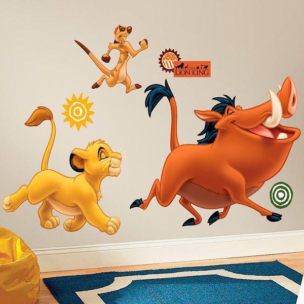 Stickers pour enfants: Simba, Timon et Pumbaa