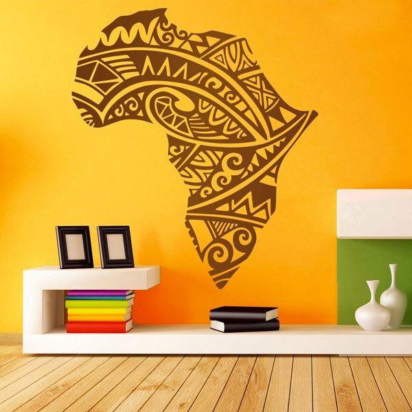 Stickers muraux: Afrique Silhouette tatouage tribal