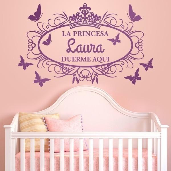 Stickers pour enfants: Princesse dort ici