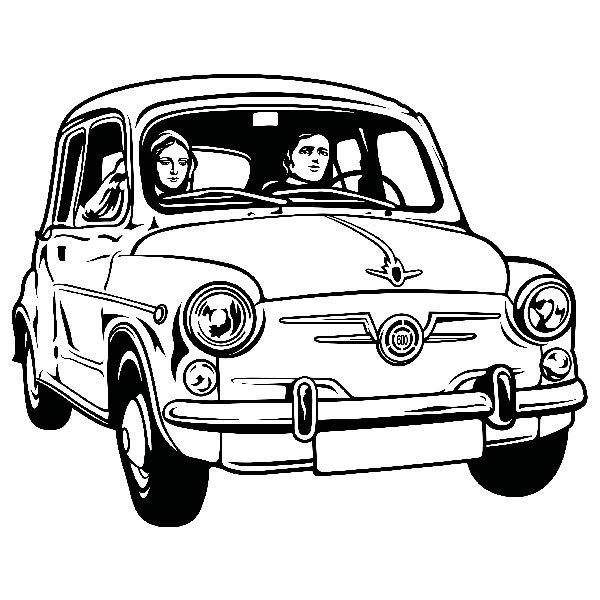 Stickers muraux: Couple dans Seat 600