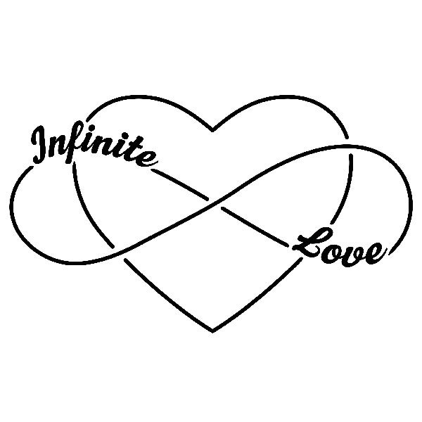 Stickers muraux: Infinite Love