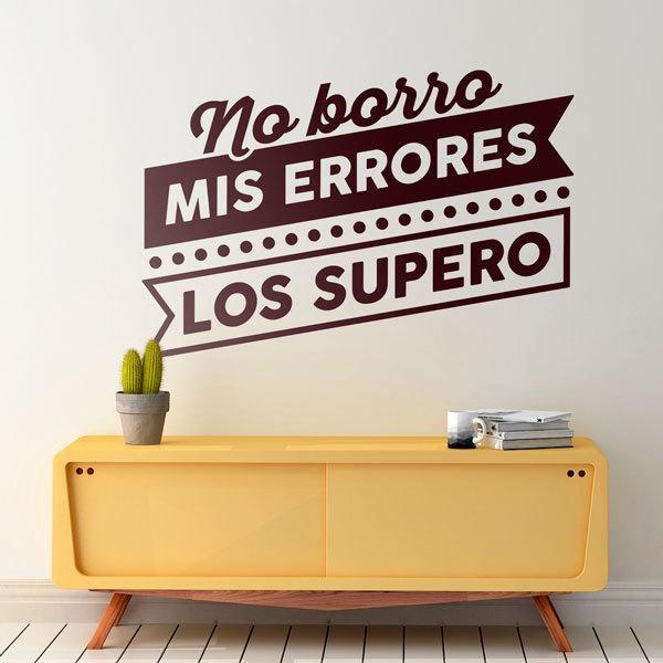 Stickers muraux: No borro mis errores, los supero