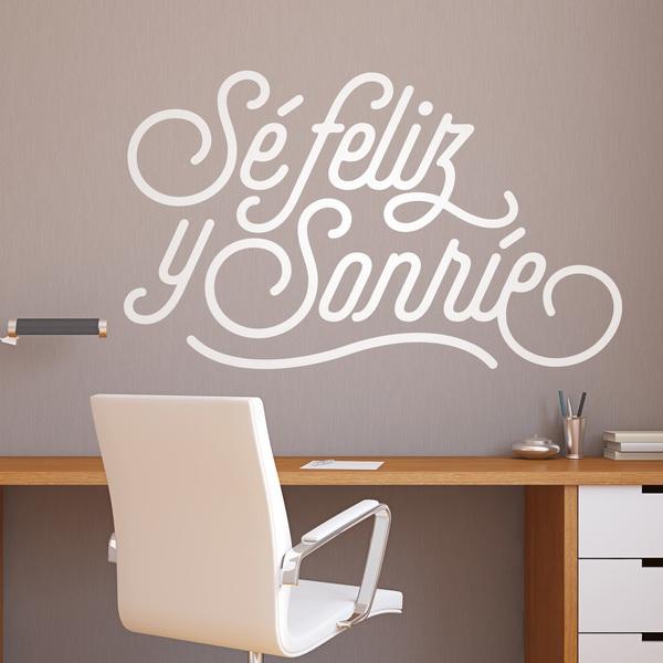 Stickers muraux: Sé feliz y sonríe