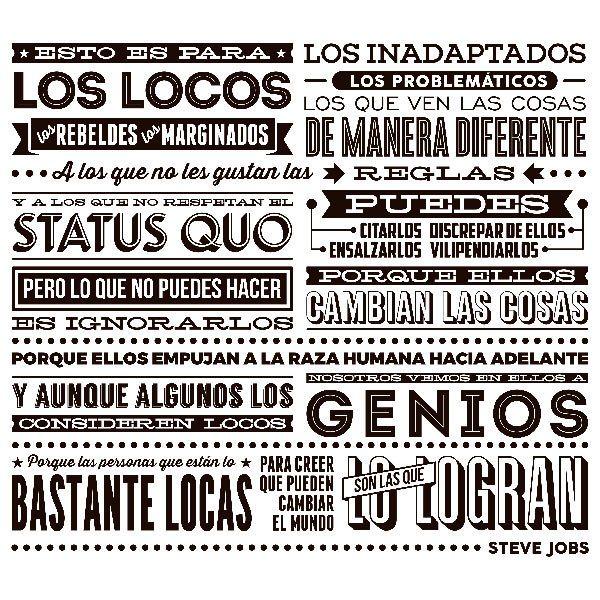 Stickers muraux: Esto es para los locos..