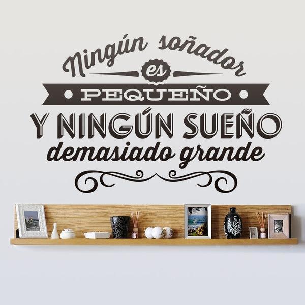 Stickers muraux: Ningún soñador es pequeño...