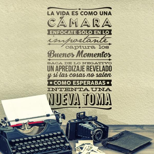 Stickers muraux: La vida es como una cámara