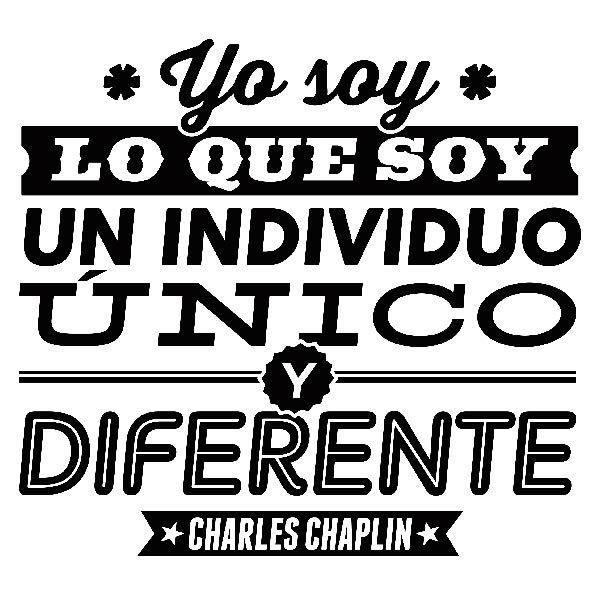 Stickers muraux: Yo soy lo que soy, un individuo único...