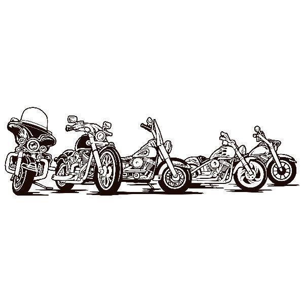 Stickers muraux: 5 Harley Davidson moto