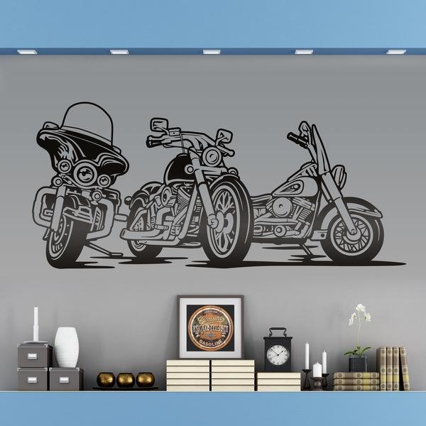 Stickers muraux: 3 Harley Davidson moto
