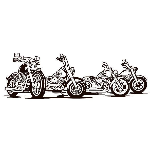 Stickers muraux: 4 Harley Davidson moto