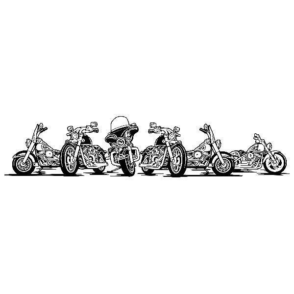Stickers muraux: 6 Harley Davidson moto