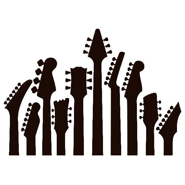 Stickers muraux: Mâts de guitare