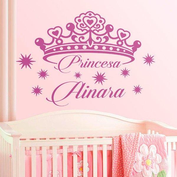 Stickers pour enfants: Personnalisé Princess