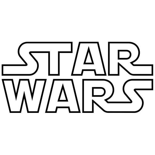 Stickers muraux: Star Wars Logo pointe