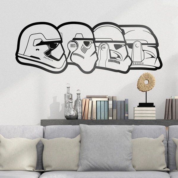 Stormtrooper evolution for Autocollant mural texte