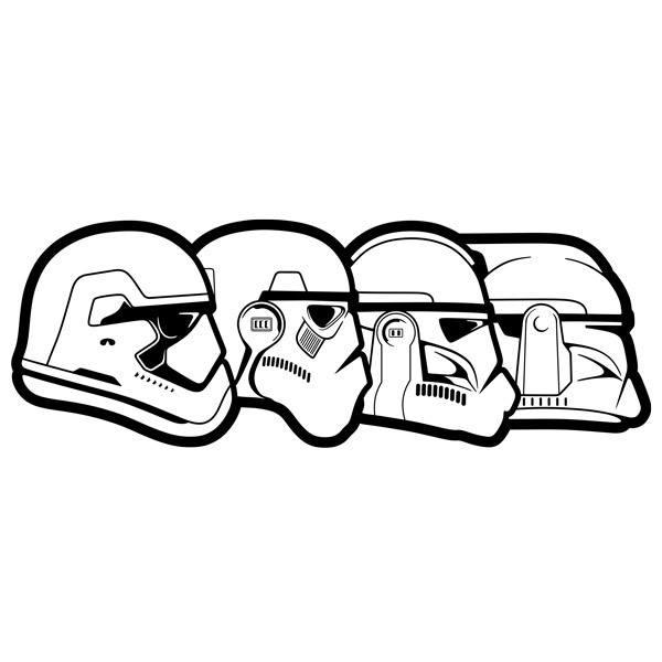 Stickers muraux: Stormtrooper Evolution