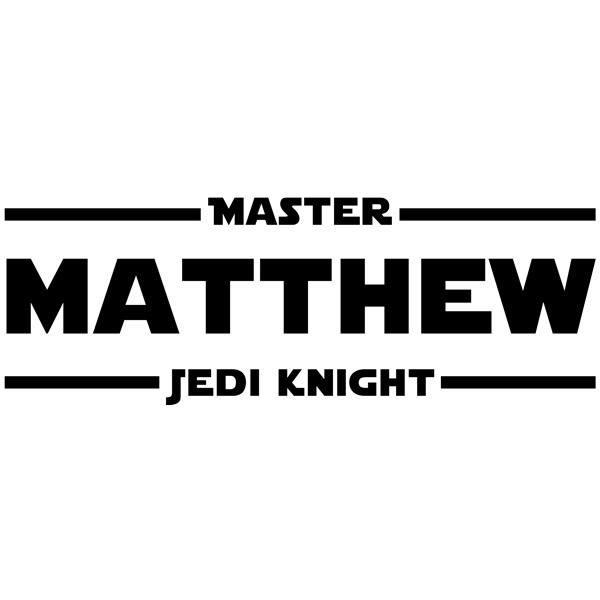 Stickers muraux: Master Jedi Knight personnalisé